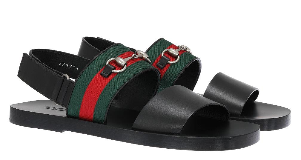 693d76ce8f7c NEW GUCCI MEN S WEB HORSEBIT SANDALS SUMMER BEACH SHOES 10 US 10.5 ...
