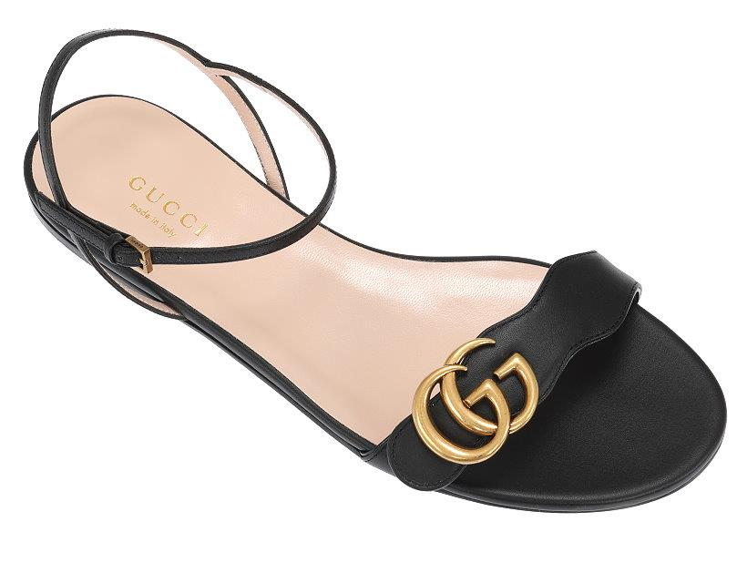 NEW GUCCI LIFFORD BLACK LEATHER DOUBLE