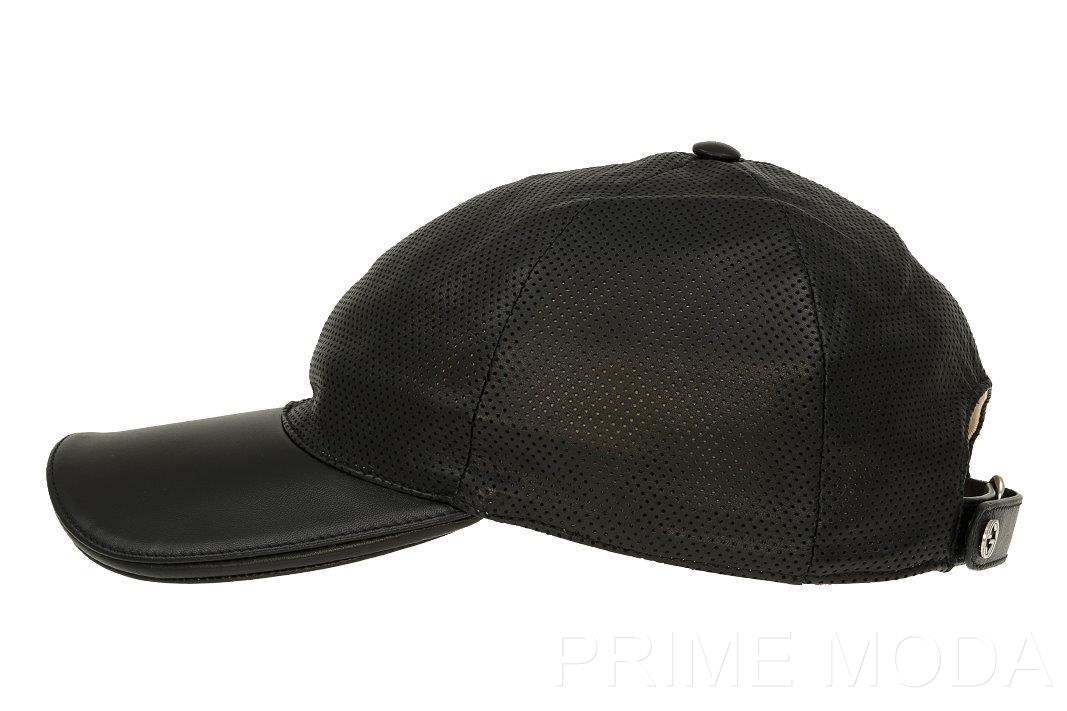 Details about NEW GUCCI PERFORATED LEATHER LOGO BASEBALL BALL CAP HAT L 722d52068aa0