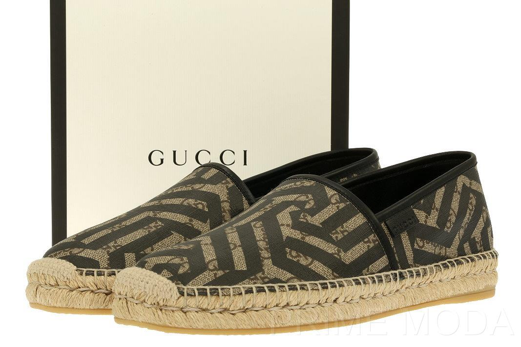 6db46a6d558d1 NEW WITH BOX GUCCI CALEIDO MEN S ESPADRILLES FROM CURRENT COLLECTION. MADE  IN SPAIN. 100% AUTHENTICITY GUARANTEED. LUXURY QUALITY BEIGE EBONY GG  GUCCISSIMA ...