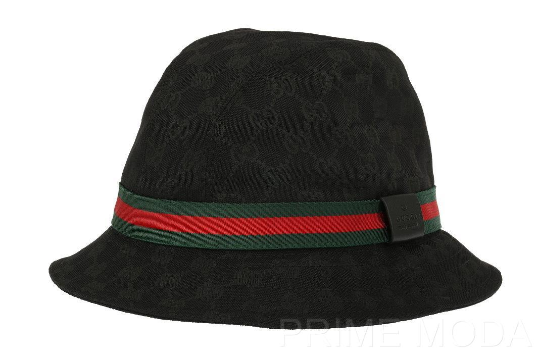 new gucci black gg guccissima canvas fisherman fedora bucket hat xs xsmall ebay. Black Bedroom Furniture Sets. Home Design Ideas
