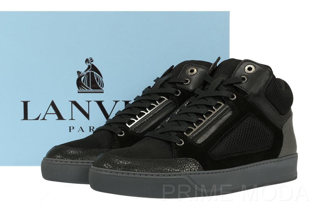 Current Men's Boots High Shoes Lace Black New Top Lanvin Sneakers Up qzSVLMUpG