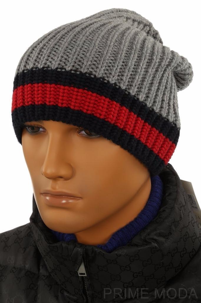 7014083a2 NEW WITH TAG GUCCI BEANIE STYLE HAT FROM CURRENT COLLECTION. MADE IN ITALY.  100% AUTHENTICITY GUARANTEED. LUXURY QUALITY GRAY COLOR 100% WOOL