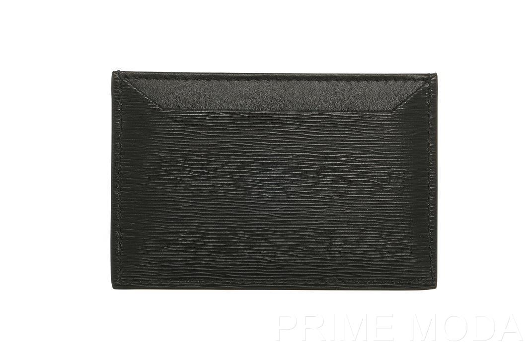 b9f11c6203e1 Details about NEW PRADA LUXURY CURRENT BLACK LEATHER LOGO CREDIT CARD  HOLDER CASE WALLET
