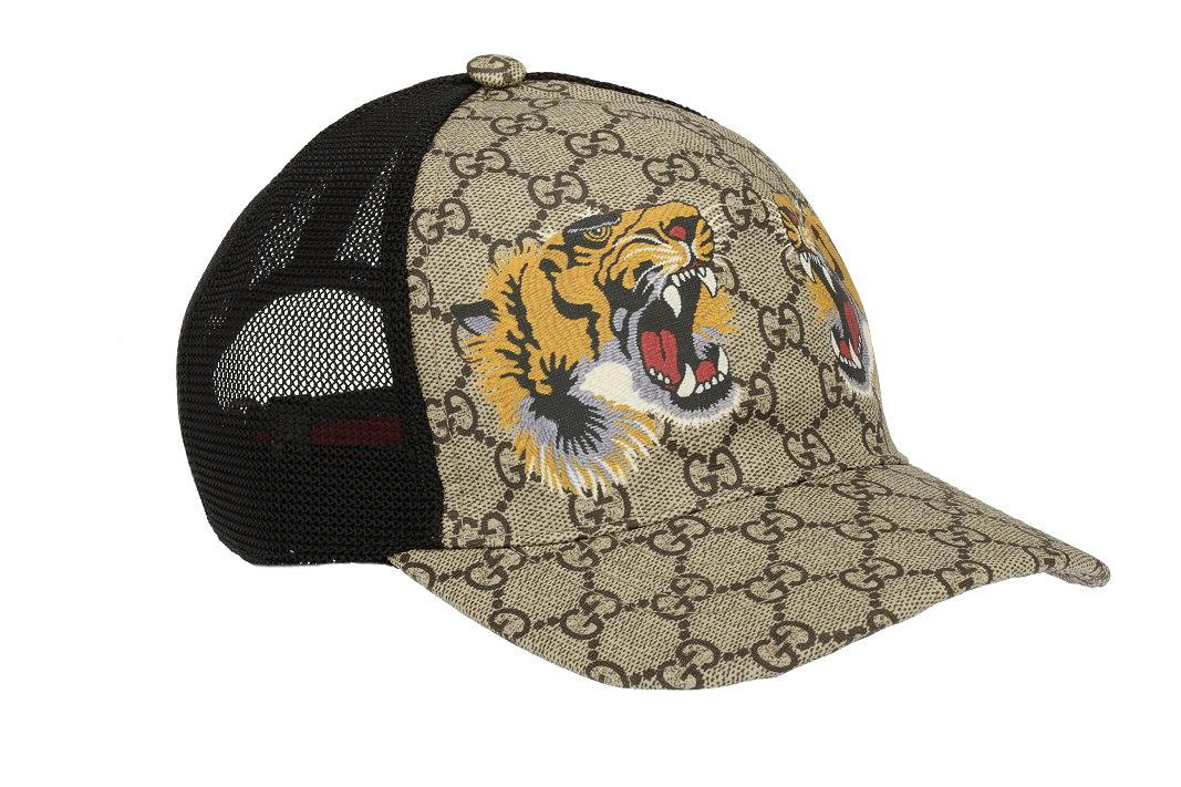 be3bbcfc631fb NEW GUCCI GG SUPREME TIGERS WEB BASEBALL CAP HAT 59 L