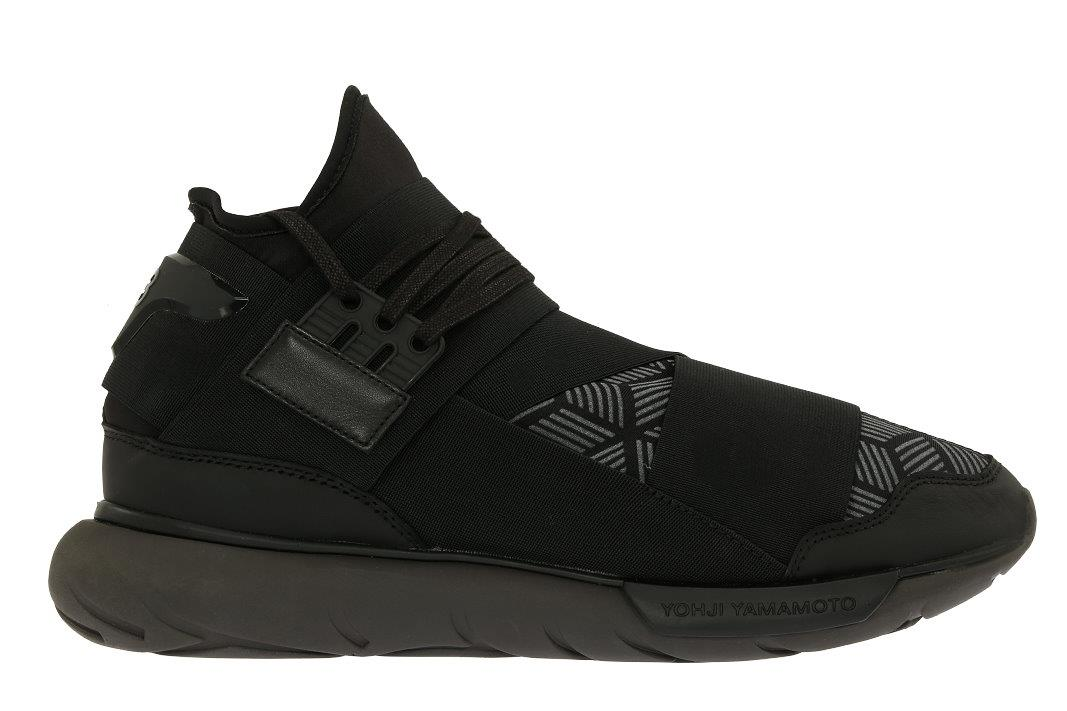 ad96e0c02f9c6 Details about NEW Y-3 YOHJI YAMAMOTO QASA BLACK REFLECTIVE PRINT HIGH-TOP  SNEAKERS SHOES 7.5