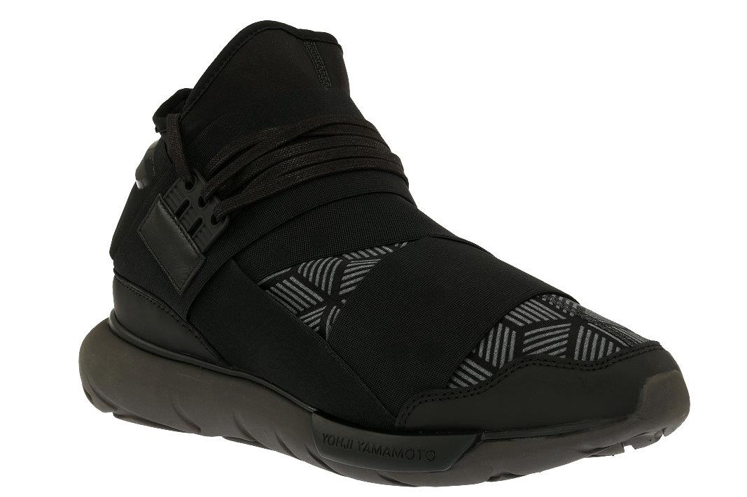 7eb79f7b8206 Details about NEW Y-3 YOHJI YAMAMOTO QASA BLACK REFLECTIVE PRINT HIGH-TOP SNEAKERS  SHOES 7.5