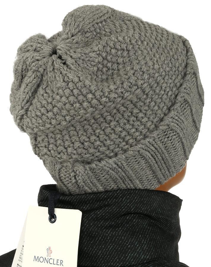 LUXURY QUALITY SOFT STRETCH CABLE KNITTING 100% WOOL HAT IN A GRAY COLOR fcf40f759bf