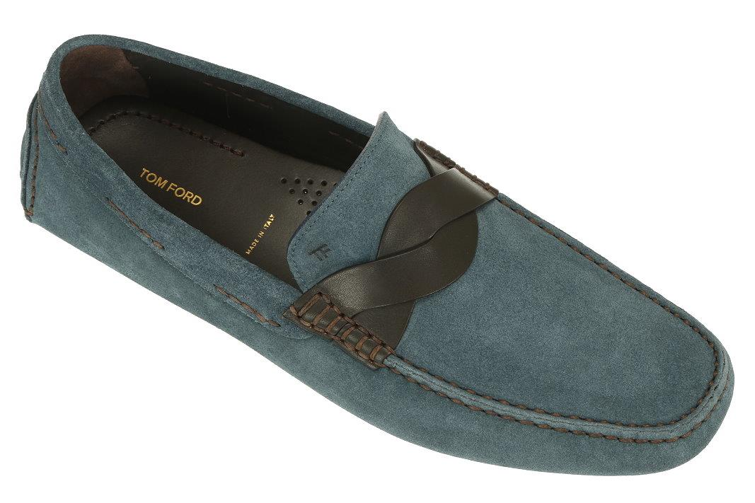 2974955df8 NEW TOM FORD CURRENT SAMUEL BLUE SUEDE LOAFERS DRIVER MOCCASINS ...
