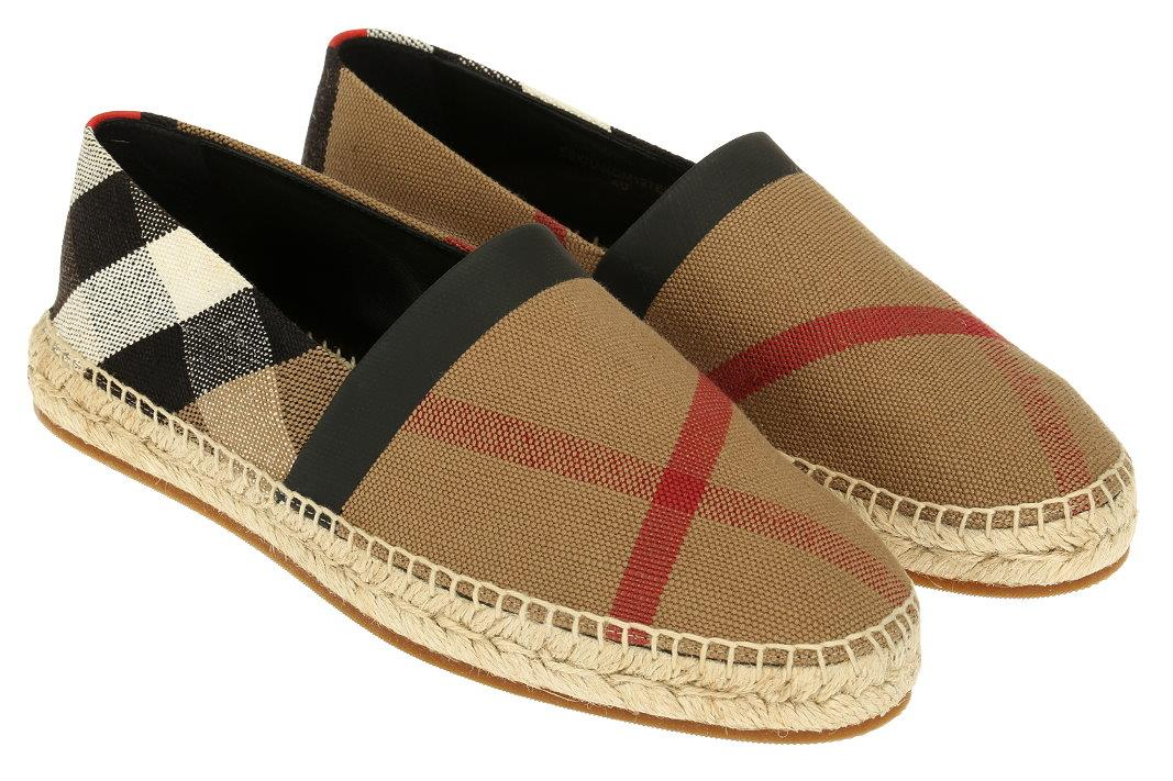 9debcd9b214 Details about NEW BURBERRY MEN S CLASSIC CAMEL CHECK ESPADRILLES LOAFERS  DRIVER SHOES 40 US 7