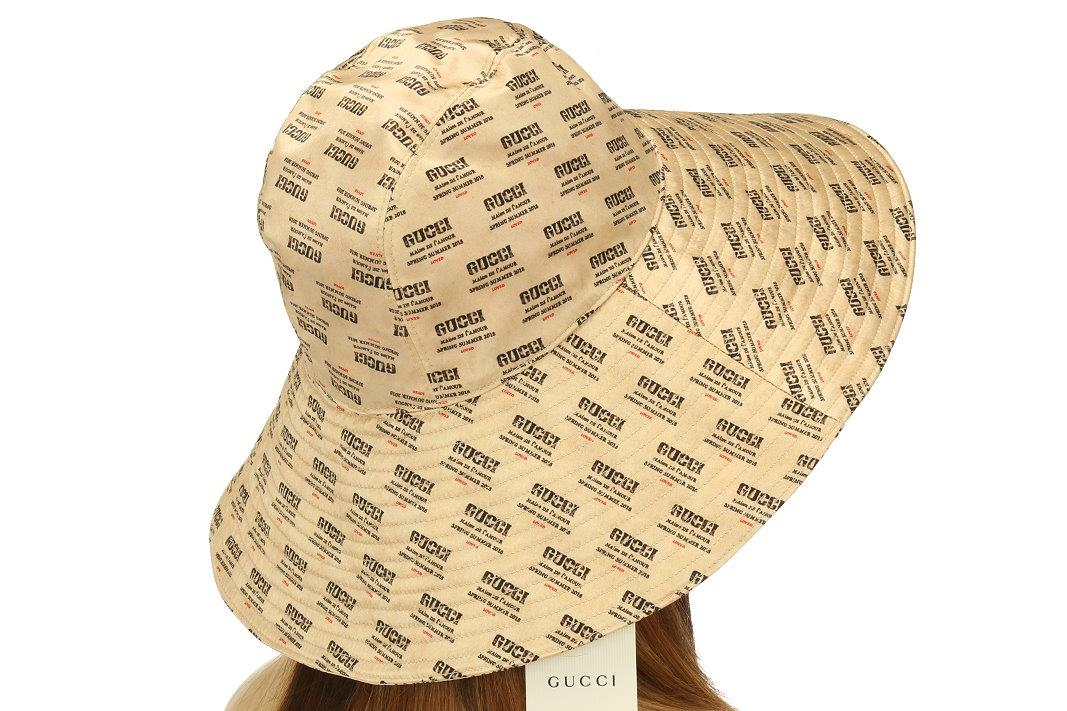 e4bf3cf6d6eecc GUCCI LADIES FEDORA HAT FROM CURRENT COLLECTION. MADE IN ITALY. 100%  AUTHENTICITY GUARANTEED. LUXURY QUALITY BEIGE COLOR 100% SILK SIGNATURE  INVITE LOGO ...