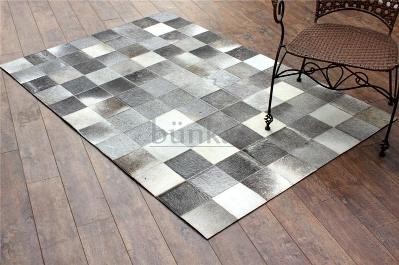 Leather Checkerboard Pattern Handmade