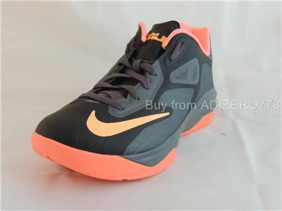 c88985ce6a ... nike lebron st iii xdr black punch mango grey basketball shoes 642839  080 ...
