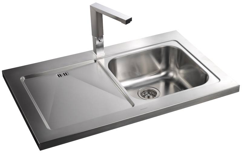rangemaster kitchen sinks rangemaster mezzo 1 0 single bowl sit on stainless steel 1721
