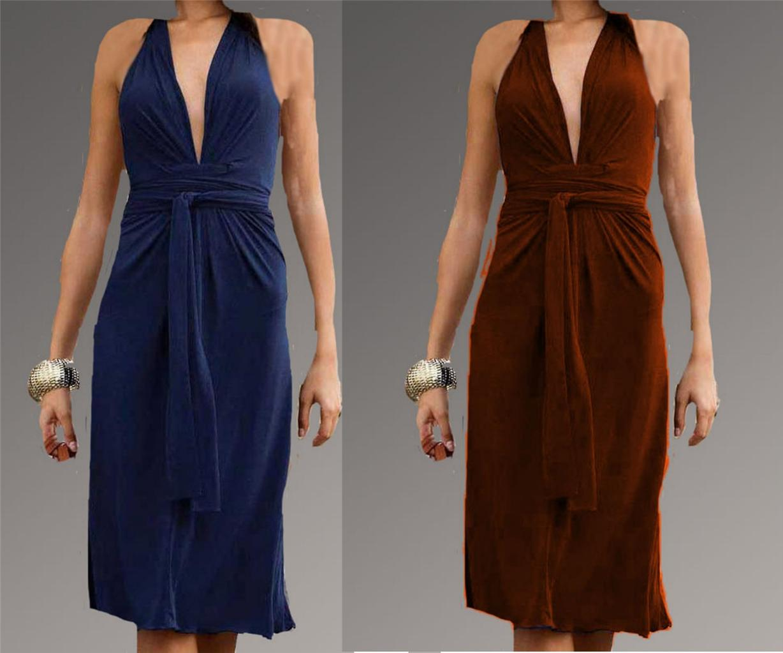NEW Victoria Secret Curvy Jersey Knot-Front Halter Dress