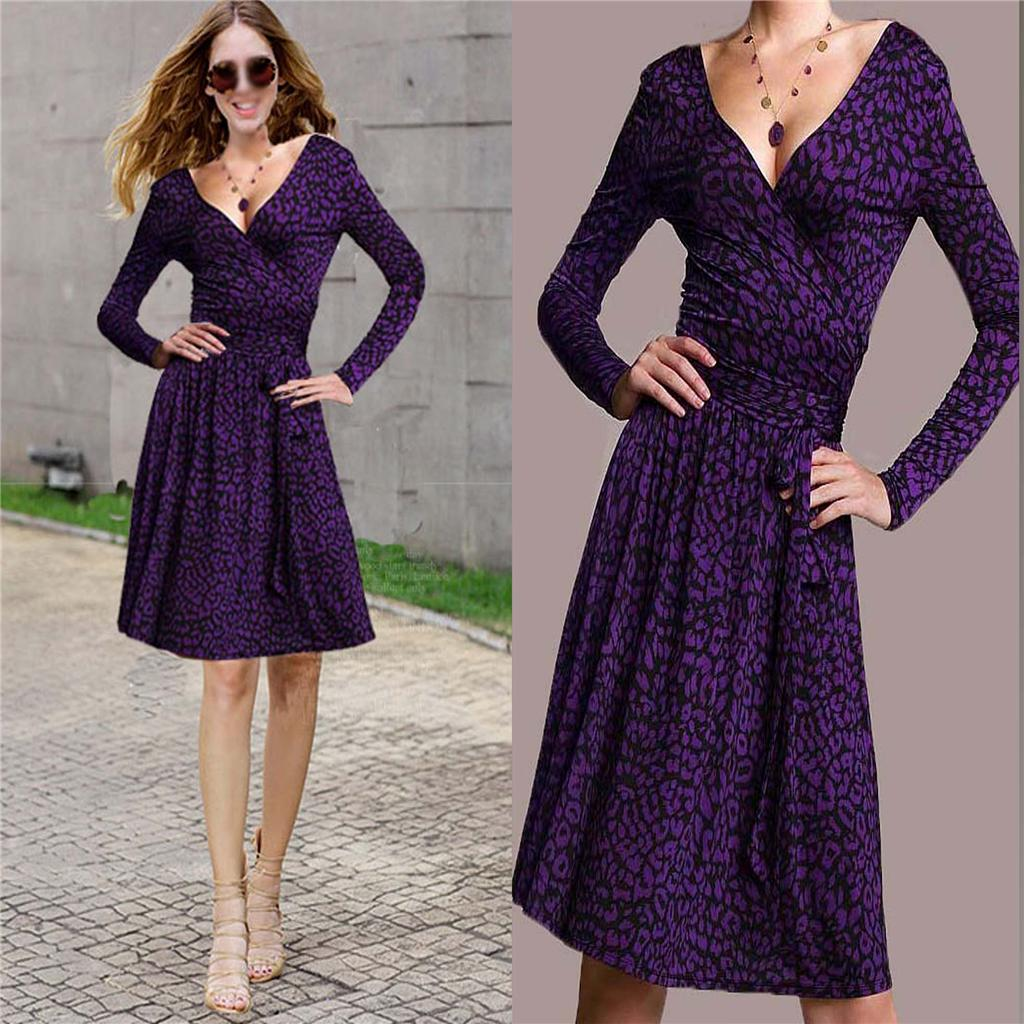New Victoria Secret Printed Full Skirt Dress Wrap Dress