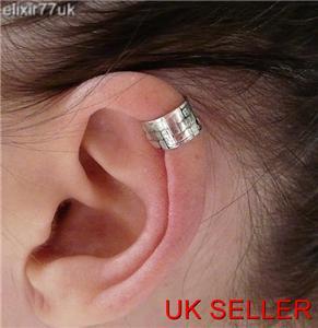 vintage silver ear cuff helix cartilage clip on