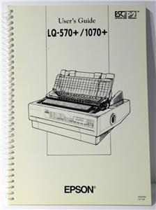 Epson lq-570 service manual pdf download.