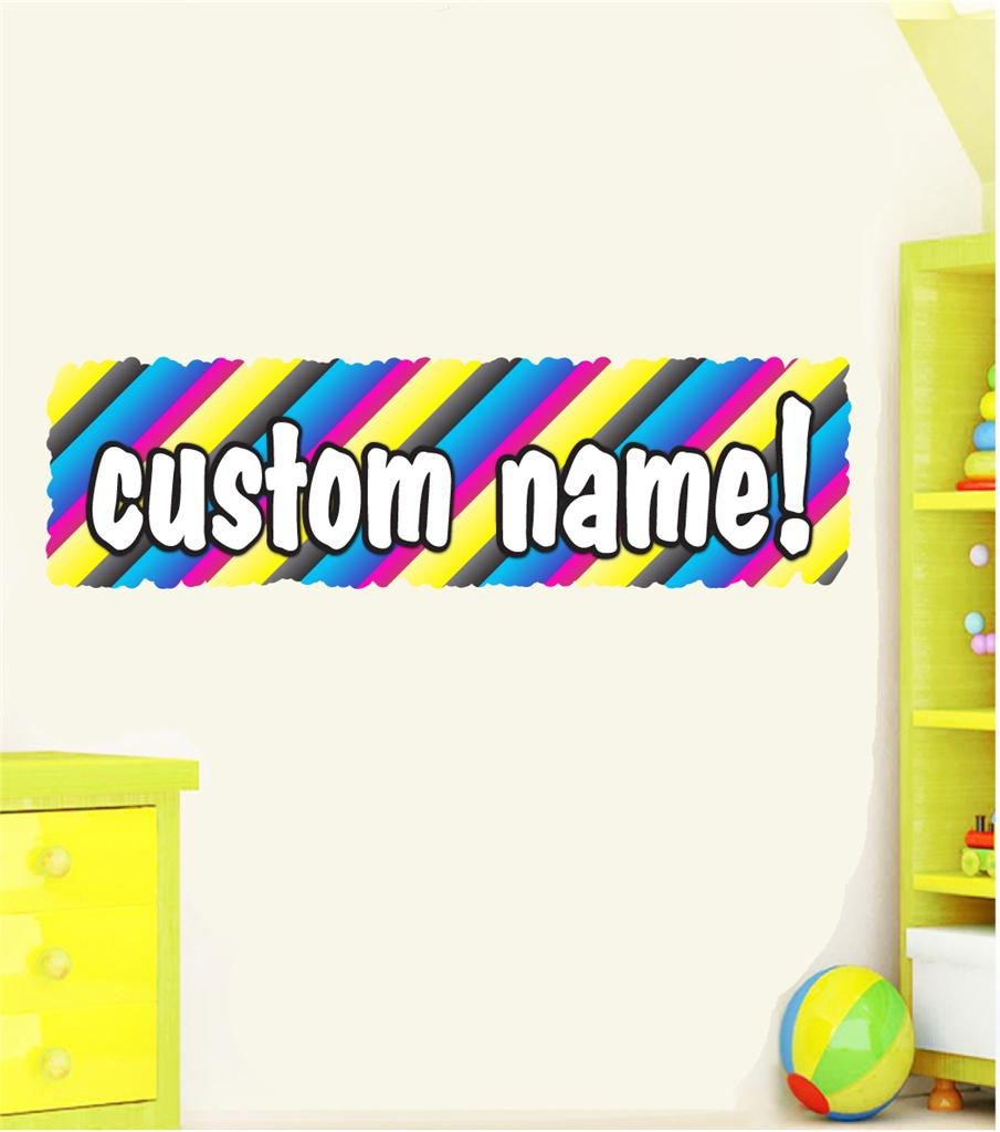 Huge Any Name Personalised Graffiti Artist Paint Wall Sticker Decal Mural Colour