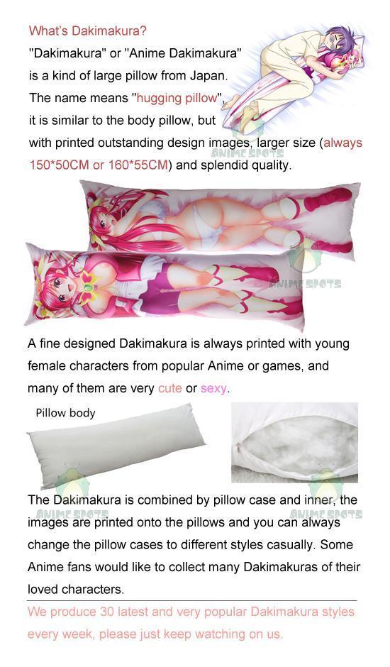 Fate Grand Order Lancer Artoria Alte 3D Breasts /& 3D butt Dakimakura pillow case