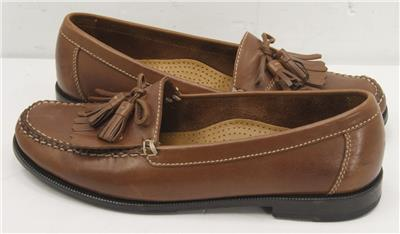bb3918a5a83 Cole Haan Dwight Saddle Tan Leather Kiltie Tassel Slip On Loafers ...