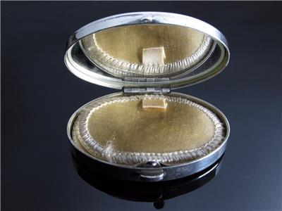 Genuine Tiffany Amp Co Oval Sterling Silver Compact Case