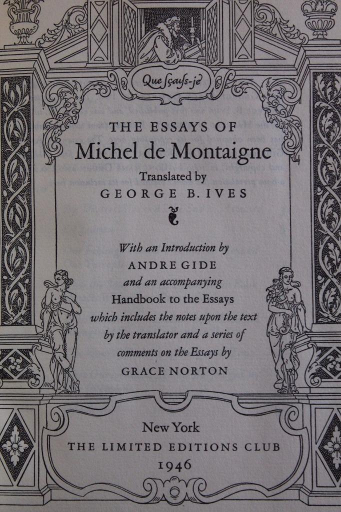 Complete Essays Of Montaigne Frame