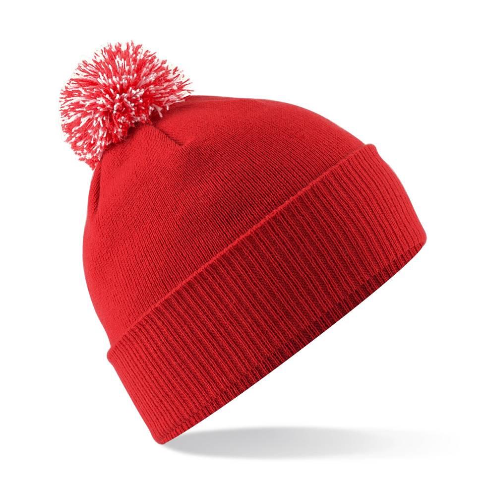 beechfield snowstar kids beanie hat winter bobble cap. Black Bedroom Furniture Sets. Home Design Ideas