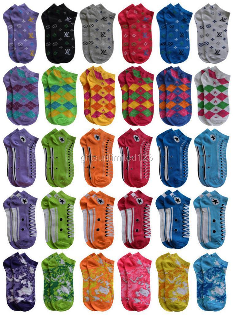 6 Pairs Womens Socks Colorful Ankle Socks Sports Socks Low Cut Socks Fun Socks