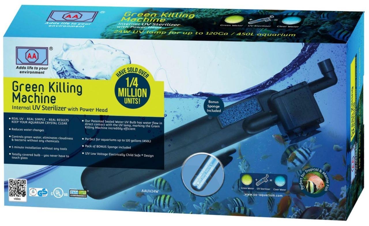 AA-Aquarium-Green-Killing-Machine-UV-Sterilizer-System-with-Power-Head-24-Watts