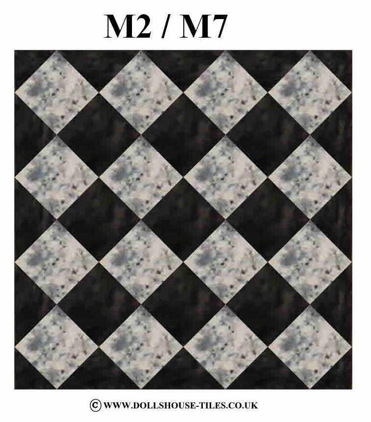 DOLLHOUSE MINIATURES FLOORINGMINIATURE DOLLHOUSE FLOOR TILES SQ - 1 inch square ceramic tiles
