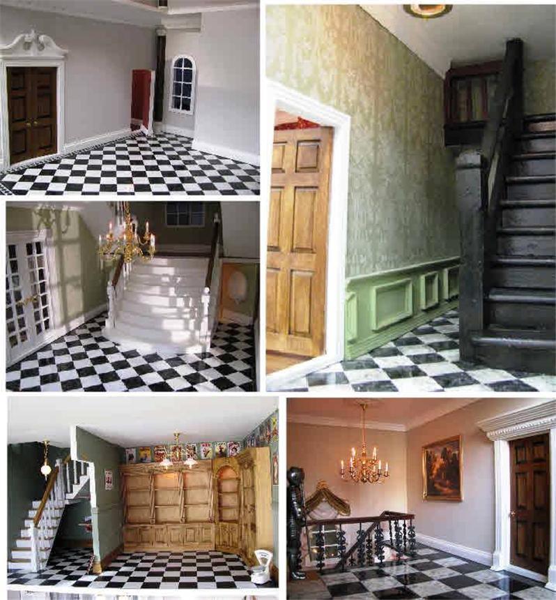 Dollhouse Flooring Installation: DOLLHOUSE MINIATURES,FLOORING,MINIATURE OCTAGONAL FLOOR