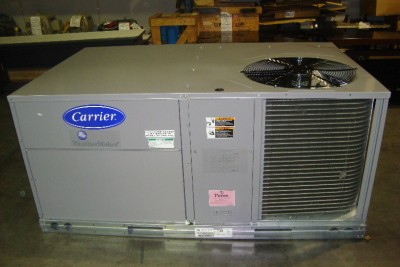 carrier 5 ton 3 phase gas package ac unit with heat new. Black Bedroom Furniture Sets. Home Design Ideas