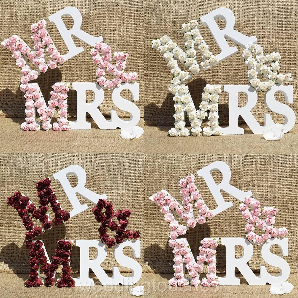 Wedding Gifts Mr And Mrs: Mr And Mrs Letters Sign White Wood Wedding Gift Mr & Mrs