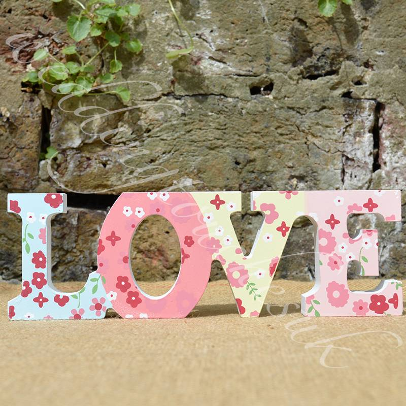 New Wooden Free Standing Love Letters Words