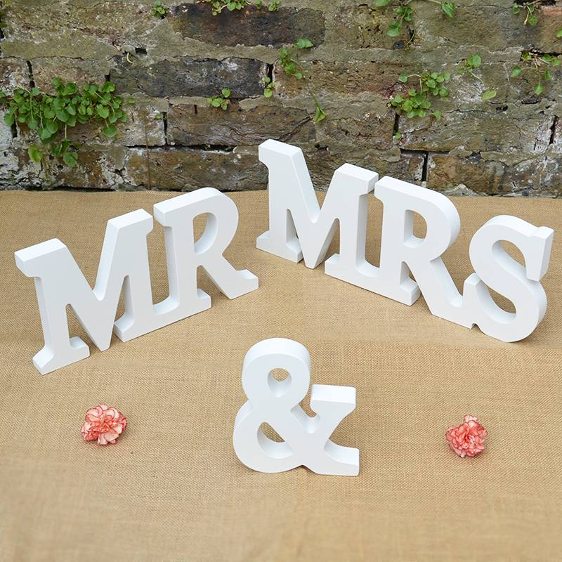 New Mr And Mrs Sign Mr & Mrs Letters Top Table Decoration