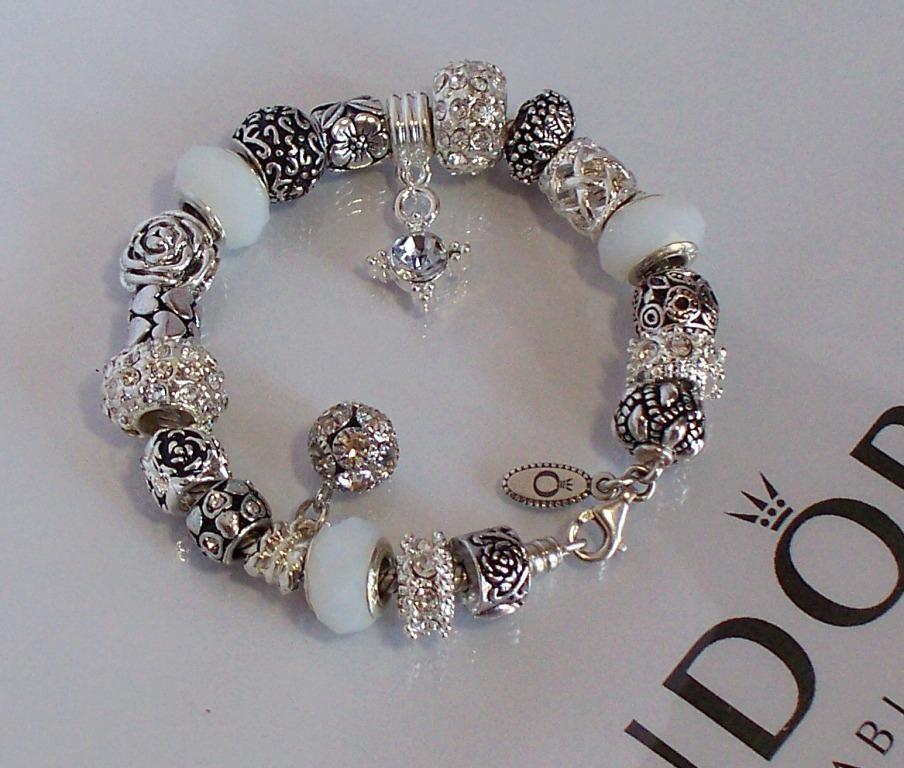 Pandora Jewelry Roll: Authentic Pandora Silver Charm Bracelet Snow White Crystal