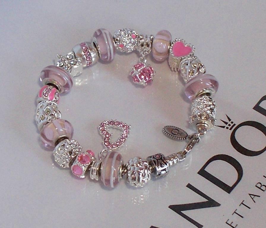 Pandora Jewelry Roll: Authentic Pandora Silver Charm Bracelet Wedding
