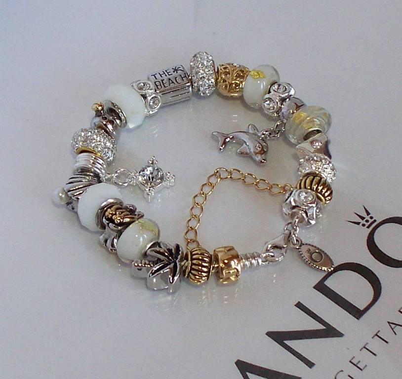 Pandora Jewelry Roll: Authentic Pandora Silver Charm Bracelet Pugster White Gold