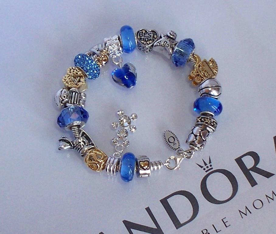 Pandora Jewelry Roll: Authentic Pandora Sterling Silver Charm Bracelet Pugster