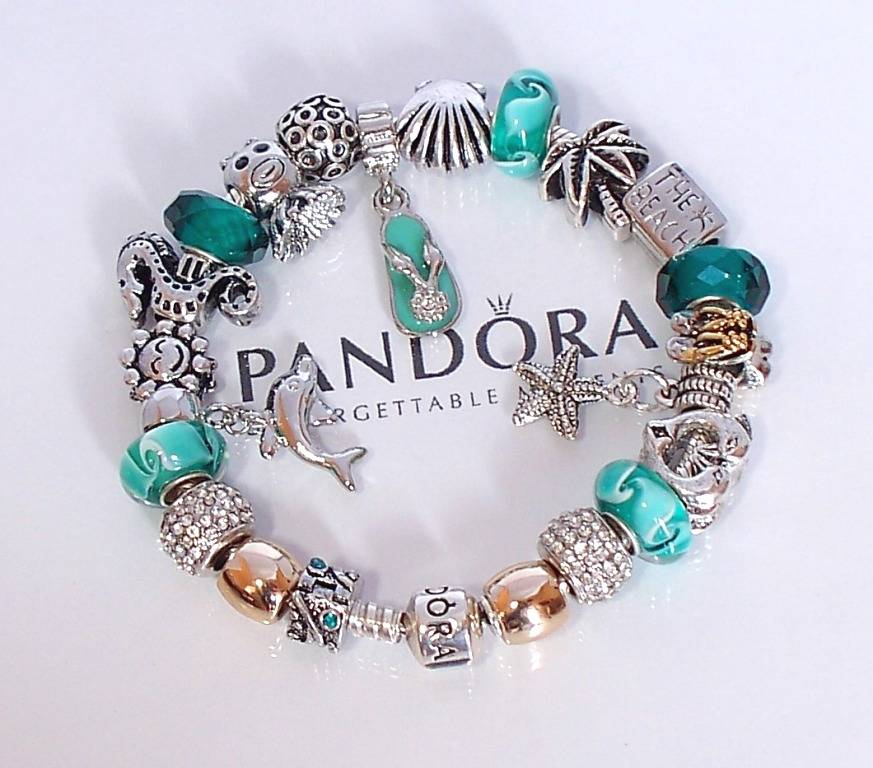 Charms For Bracelets Pandora: Authentic Pandora 925 Silver Charm Bracelet Barrel Clasp