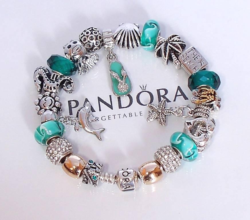 Pandora Charms Bracelets: Authentic Pandora 925 Silver Charm Bracelet Barrel Clasp