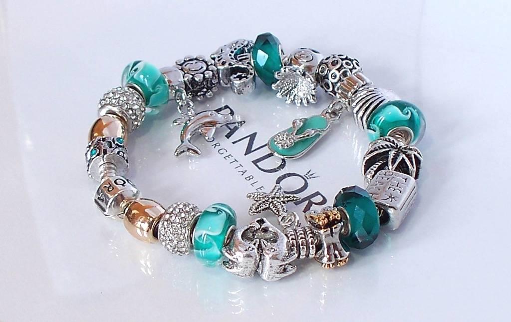 Authentic Pandora 925 Silver Charm Bracelet Barrel Clasp