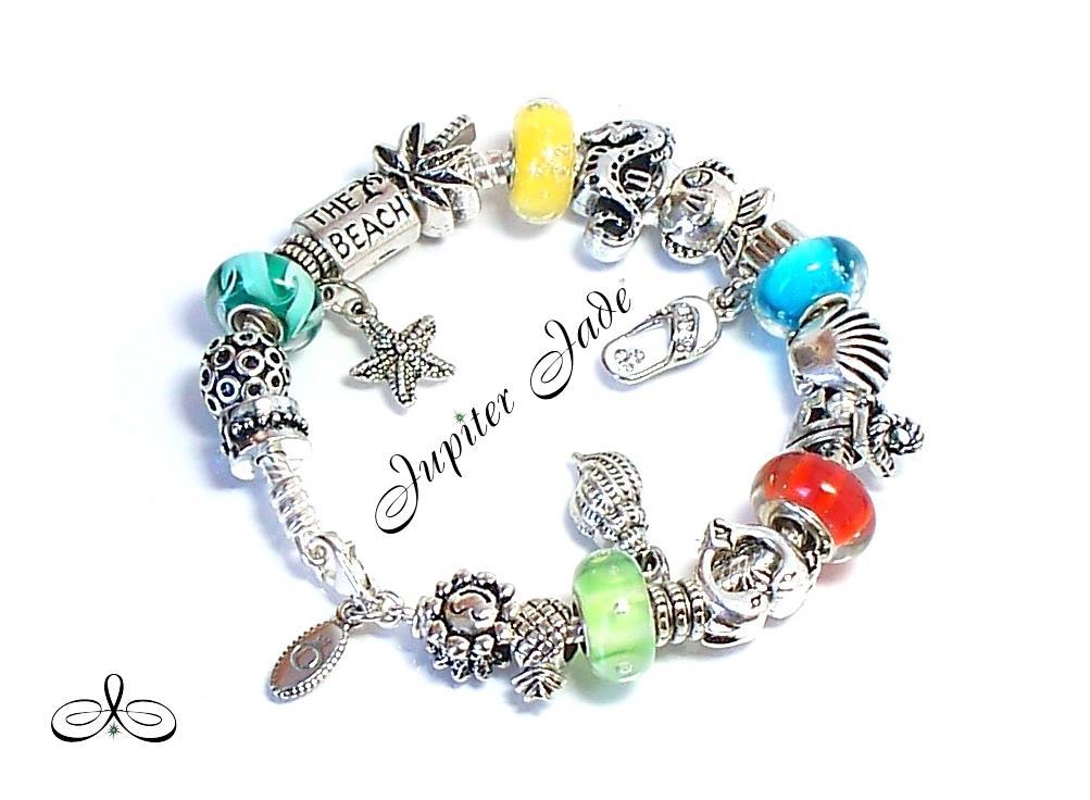 Authentic Pandora Silver Bracelet Sun Surf Palm Trees
