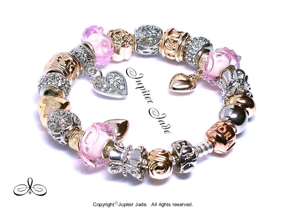 Authentic Pandora Silver Bracelet 14k Rose Gold Clasp Euro ...  Authentic Pando...