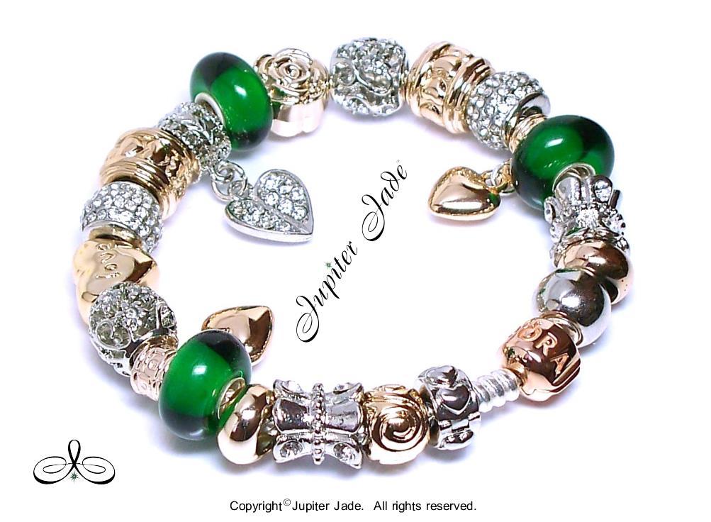 Authentic Pandora Silver Bracelet Rose Gold Clasp European