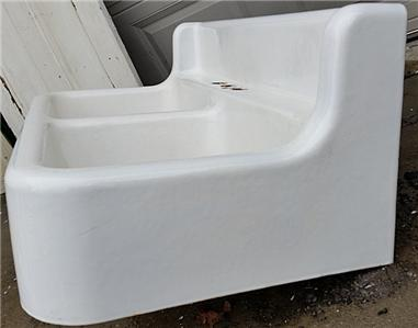 antique cast iron farm farmhouse vintage kitchen sink dbl basins orig porcelain ebay. Black Bedroom Furniture Sets. Home Design Ideas