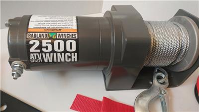 Details about Badland Winch 2500lb Complete Kit -  Remote*Control*Mount*Fairlead*Snatch Hook