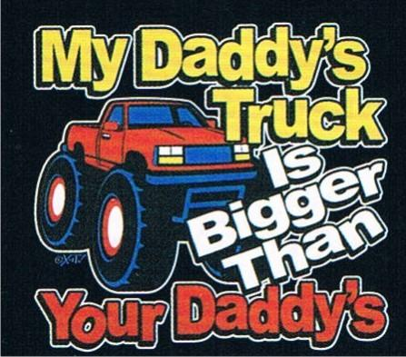 My daddy is bigger than yours