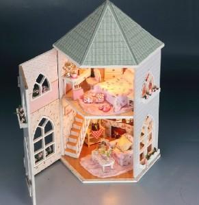 doll house princess love castle led lighting furniture. Black Bedroom Furniture Sets. Home Design Ideas